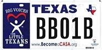 TX CASA License Plate
